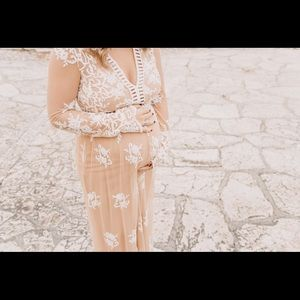 Forever 21 nude/lace maxi dress